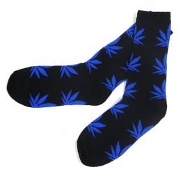 Calcetines Marihuna Negro-Azul