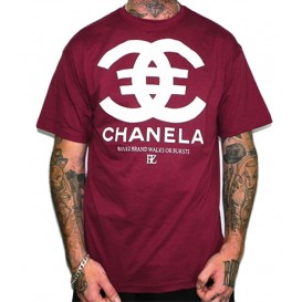 Camiseta Rulez Chanela Granate