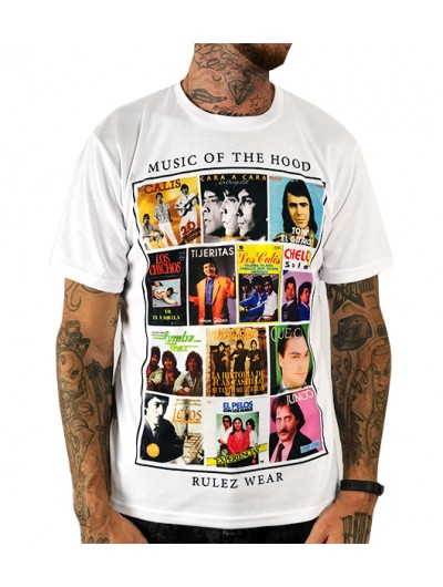 Camiseta Rulez music of the hood