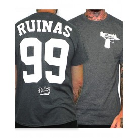 Camiseta Rulez 99 Ruinas Antracita