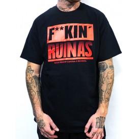 Camiseta Rulez Fuck Ruinas Negra/Roja