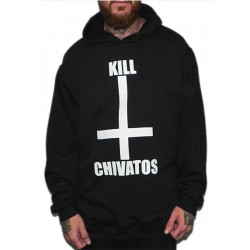 Sudadera Rulez Kill Chivatos Negra Gorro