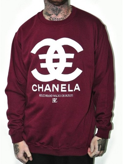 Sudadera Rulez Chanela Granate